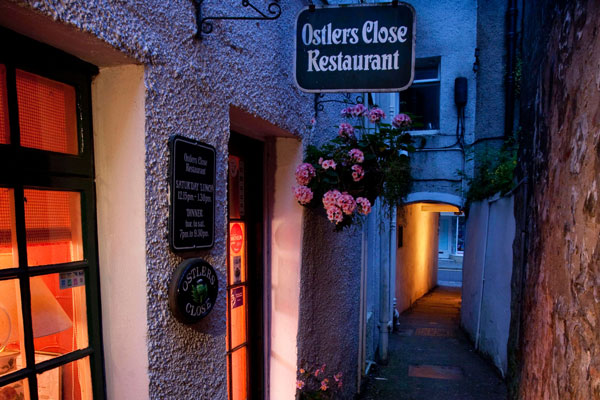 View of Ostlers Close Restaurant from outside