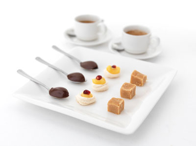 Delicios petit fours at Ostlers Close Restaurant